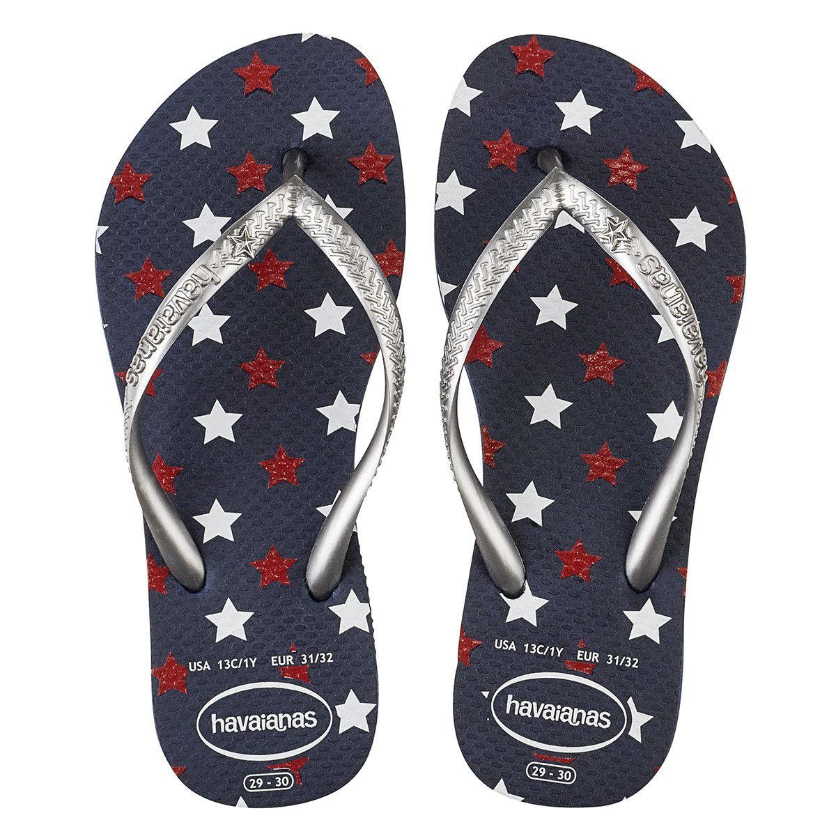 a9cd1399a5f Havaianas Kids Slim Stars Glitter Sandal Navy Blue Price From  18