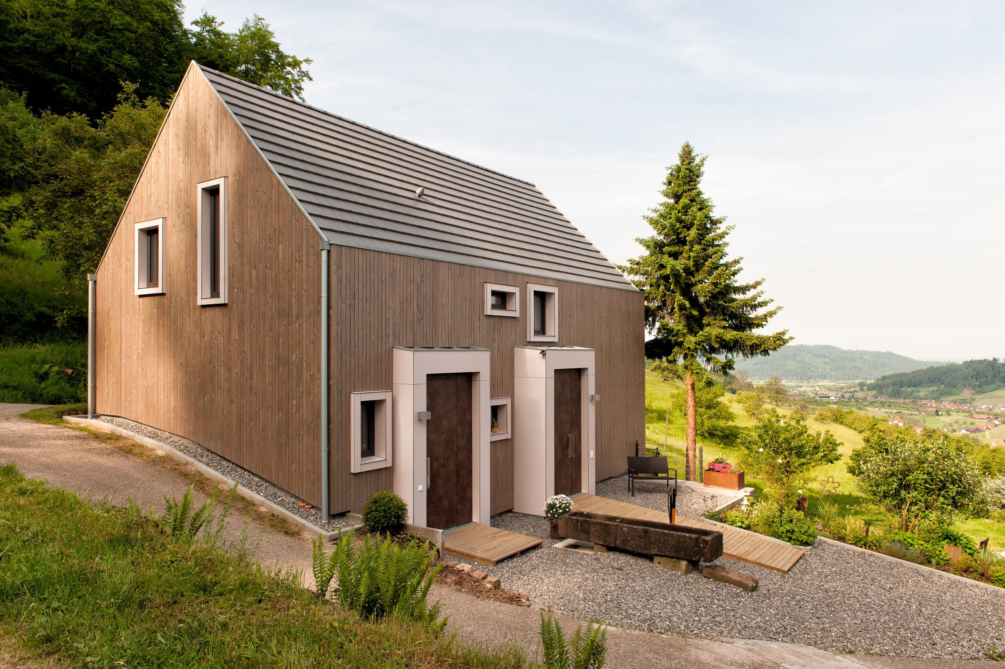 Photo 1 Of 9 In These 4 European Homes Show How Striking A Steep Roof European House Craftsman House Modern Architecture