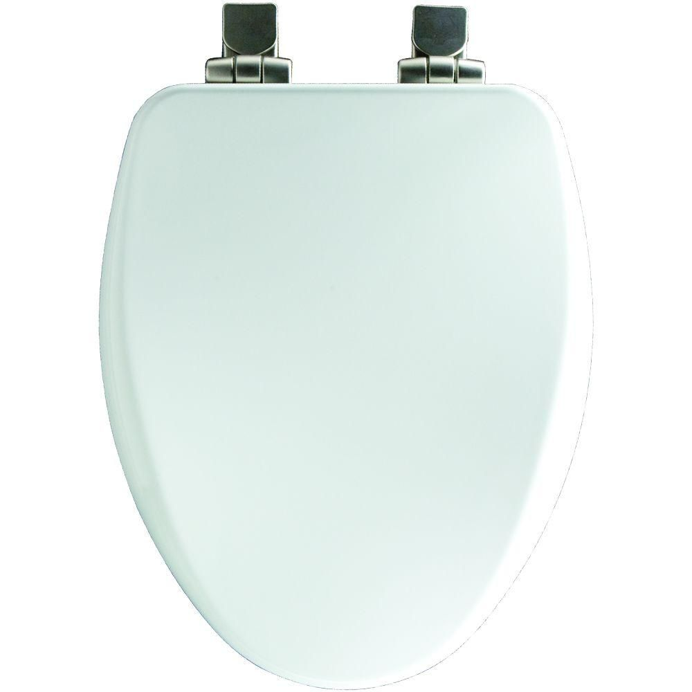 Bemis Elongated Closed Front Toilet Seat In Cotton White Wood Toilet Seat Modern Toilet Seats White Toilet Seats