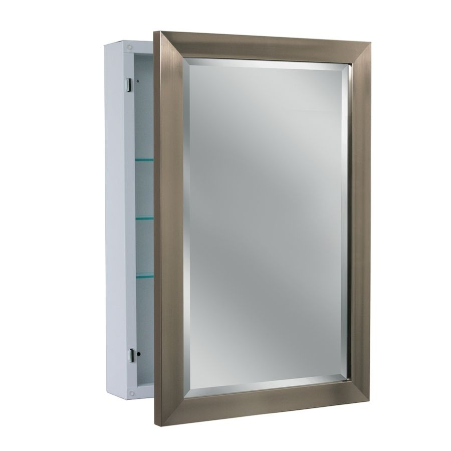 Mirrored Medicine Cabinet Lowes Classy $138 Lowes Allen  Roth 2225In X 3025In Rectangle Surface Inspiration