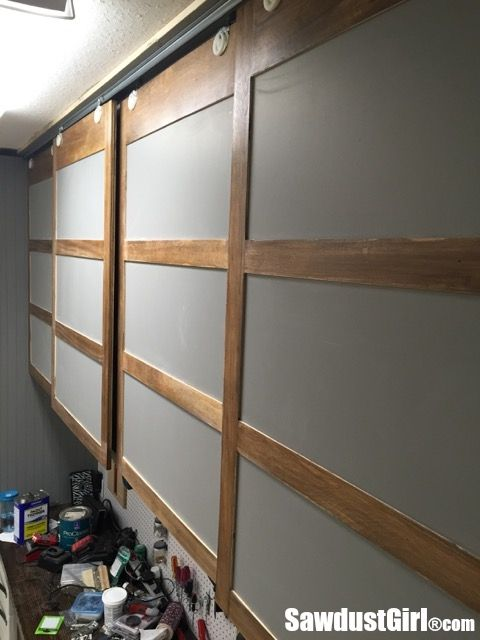 Easy Diy Sliding Doors For Cabinets Sliding Cabinet