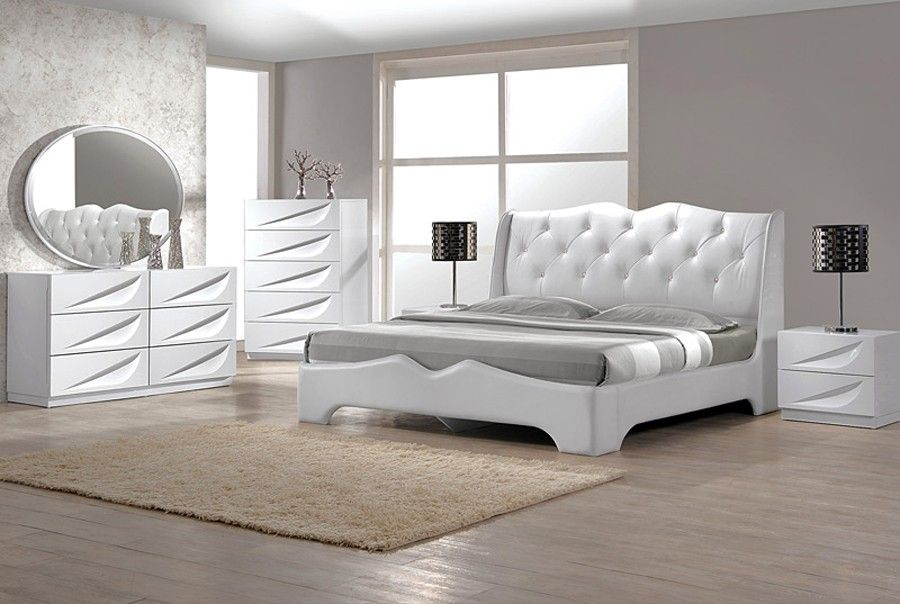 Awesome White Leather Bedroom Furniture Bedroom White Leather ...