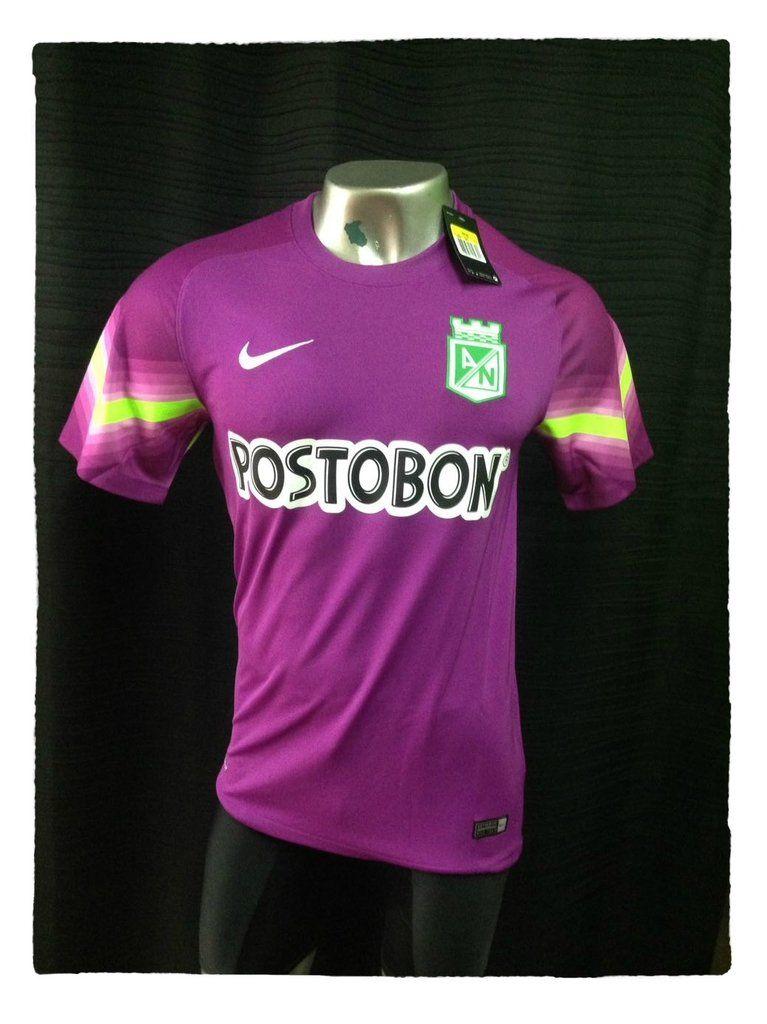 Camiseta M C Nike Arquero Morada Atlético Nacional  8d755c220e0e1