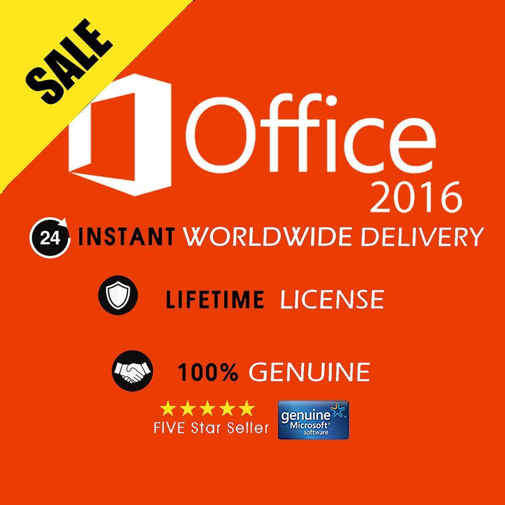 OFFICE PROFESSIONAL PLUS 2016 32 / 64BIT ORIGINAL LICENSE KEY 1PC