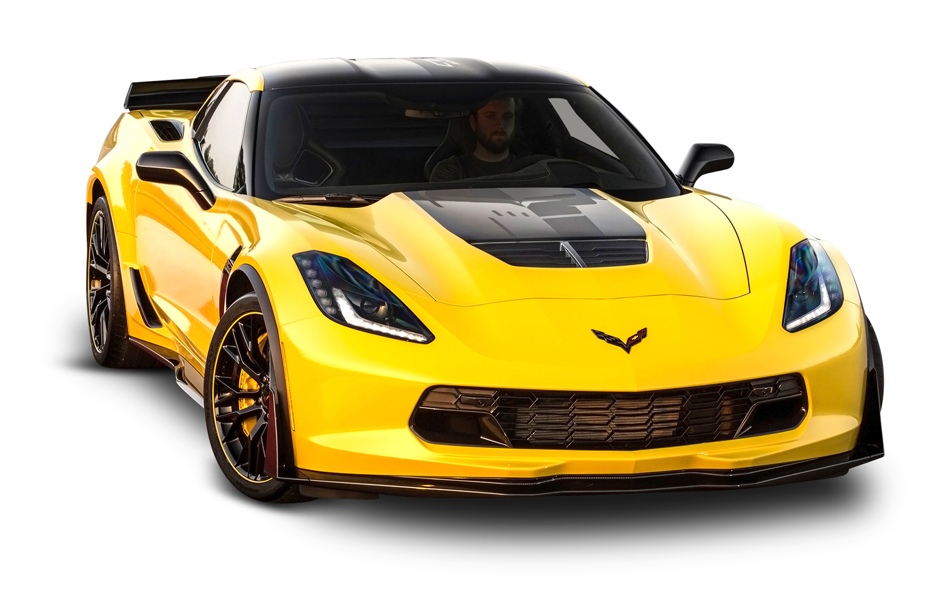 Yellow Chevrolet Corvette Z06 C7 Car Chevrolet Corvette Z06