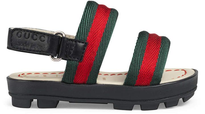 dc30e52cf Gucci Baby Toddler Boys Leather and Web Sandal