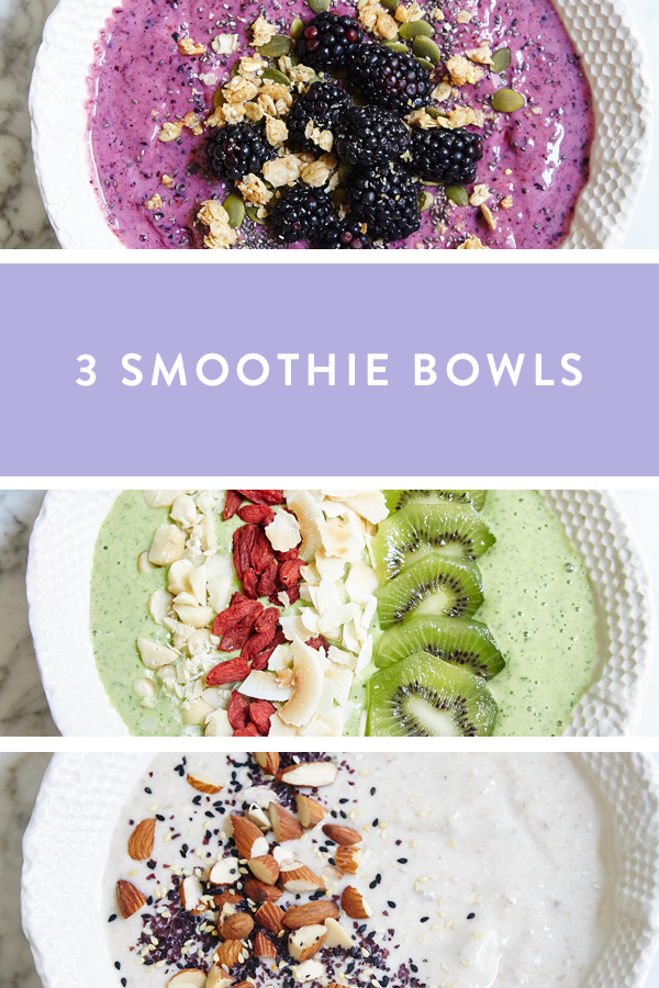 3 Smoothie Bowl Recipes