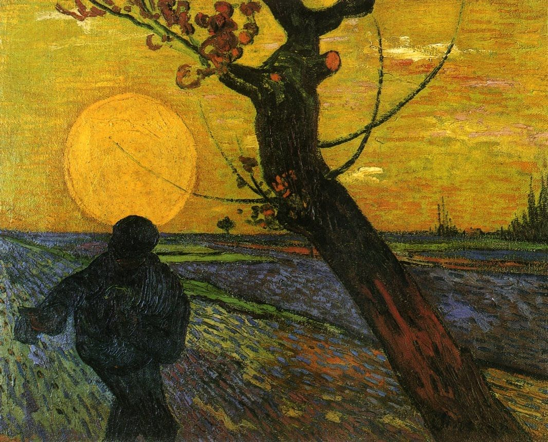 The Sower. Arles, November 1888=oil on canvas-    Vincent van Gogh (1853 - 1890)    Van Gogh Museum, Amsterdam