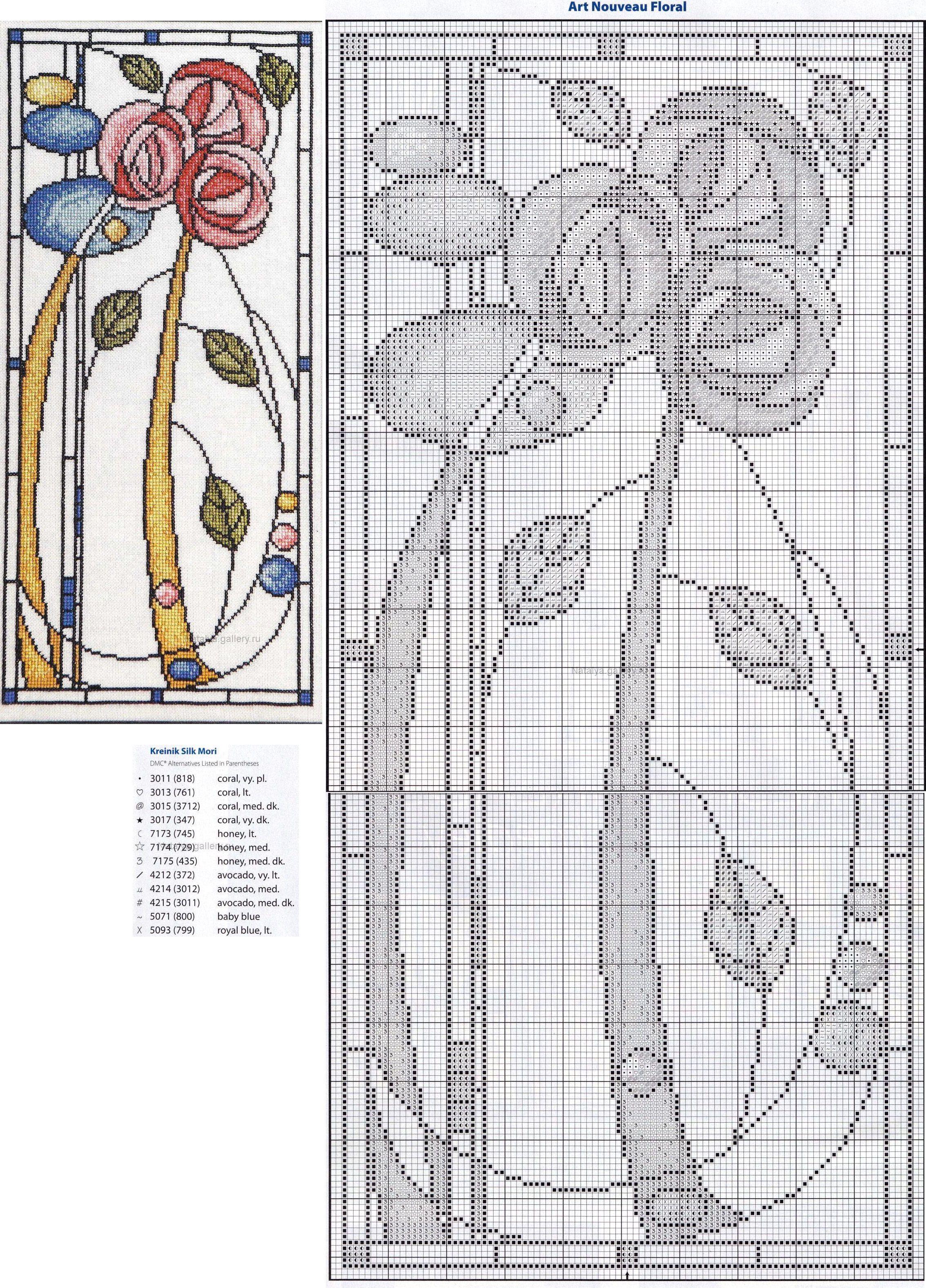 Just Cross Stitch | Квіти, букети. | Pinterest | Diseño floral, Art ...