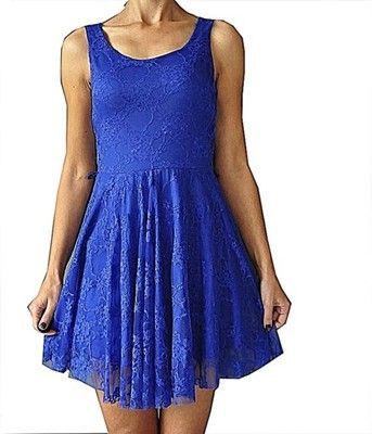 Tg Kobaltowa Koronkowa Sukienka 38 6540015114 Oficjalne Archiwum Allegro Dresses Fashion Sleeveless Dress