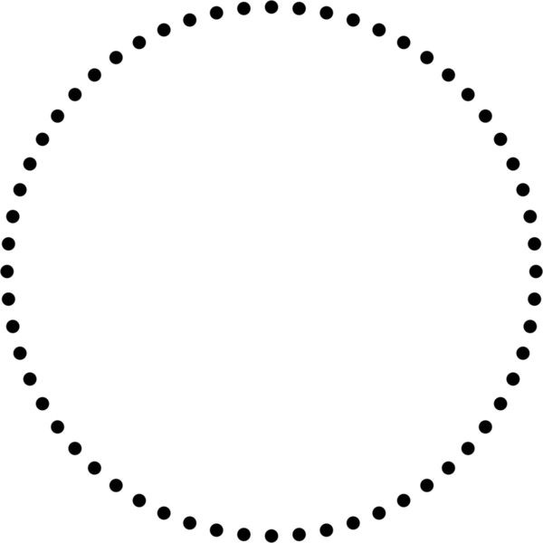 Creating Dotted Lines That Are Actually Circles Circle Outline Circle Circle Borders