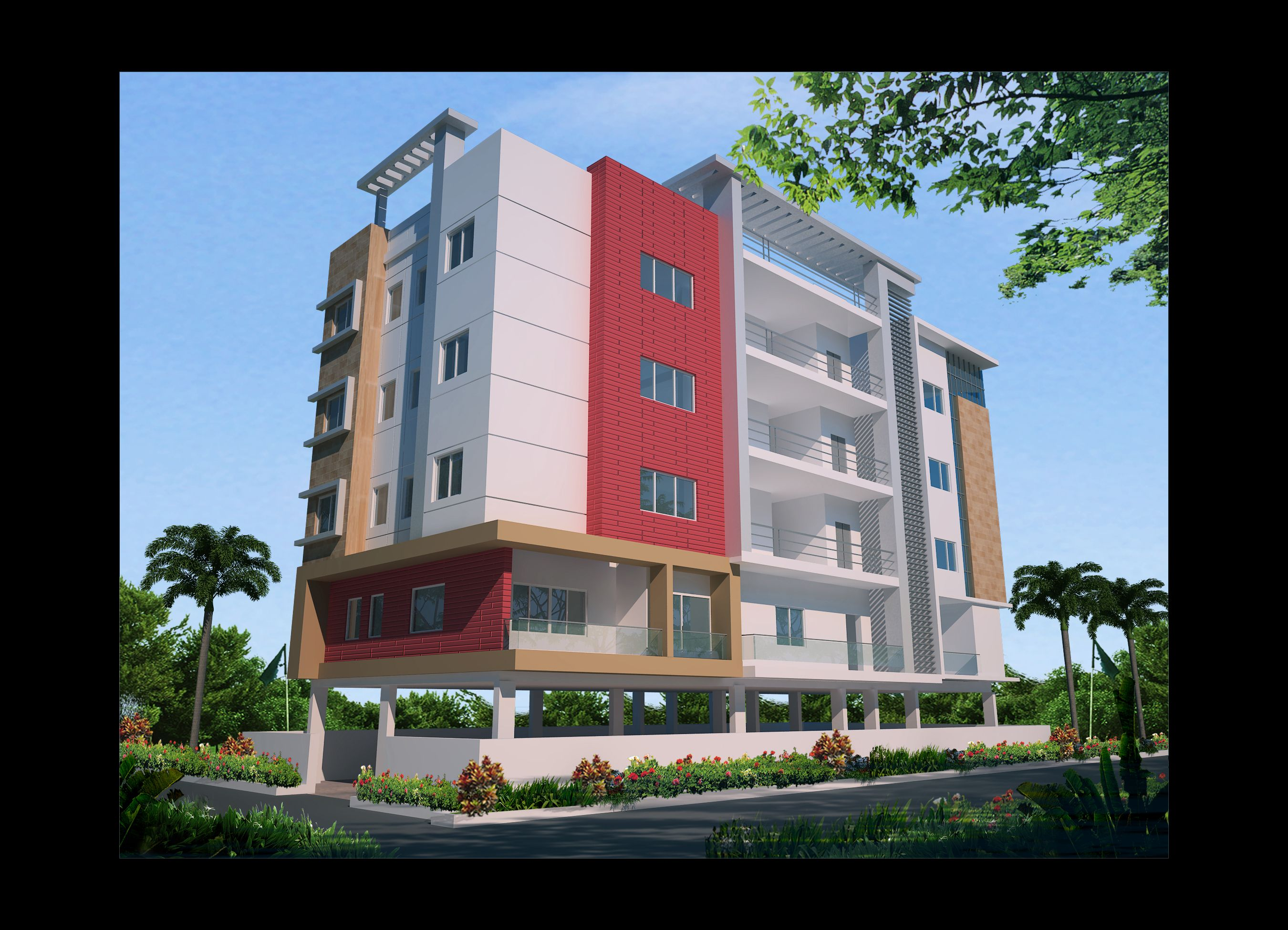 Apartment elevation design architectural design for Latest apartment designs