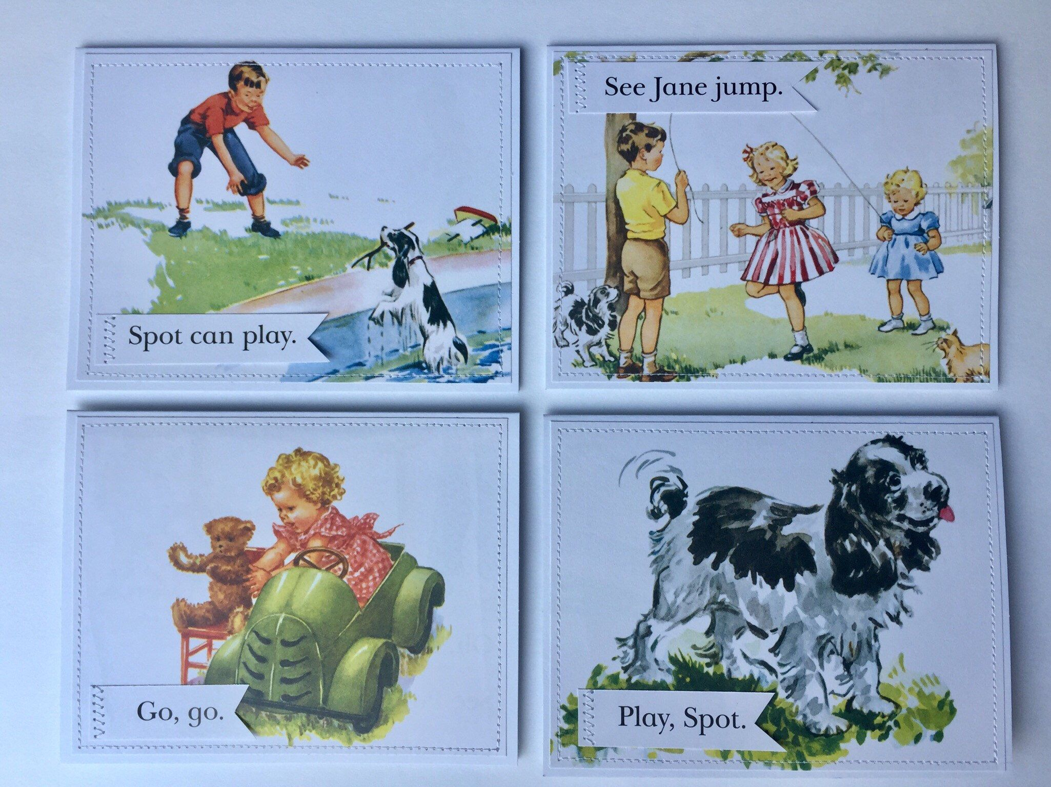 Final, dick and jane card shop