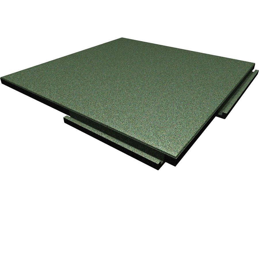 Sterling Athletic Rubber Tile 1.25 Inch Green Playground