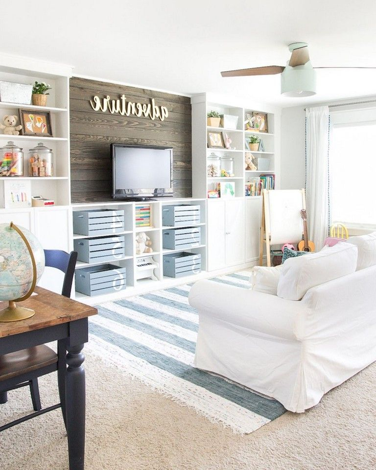 54 Cozy Modern Farmhouse Living Room First Apartment Ideas Kids