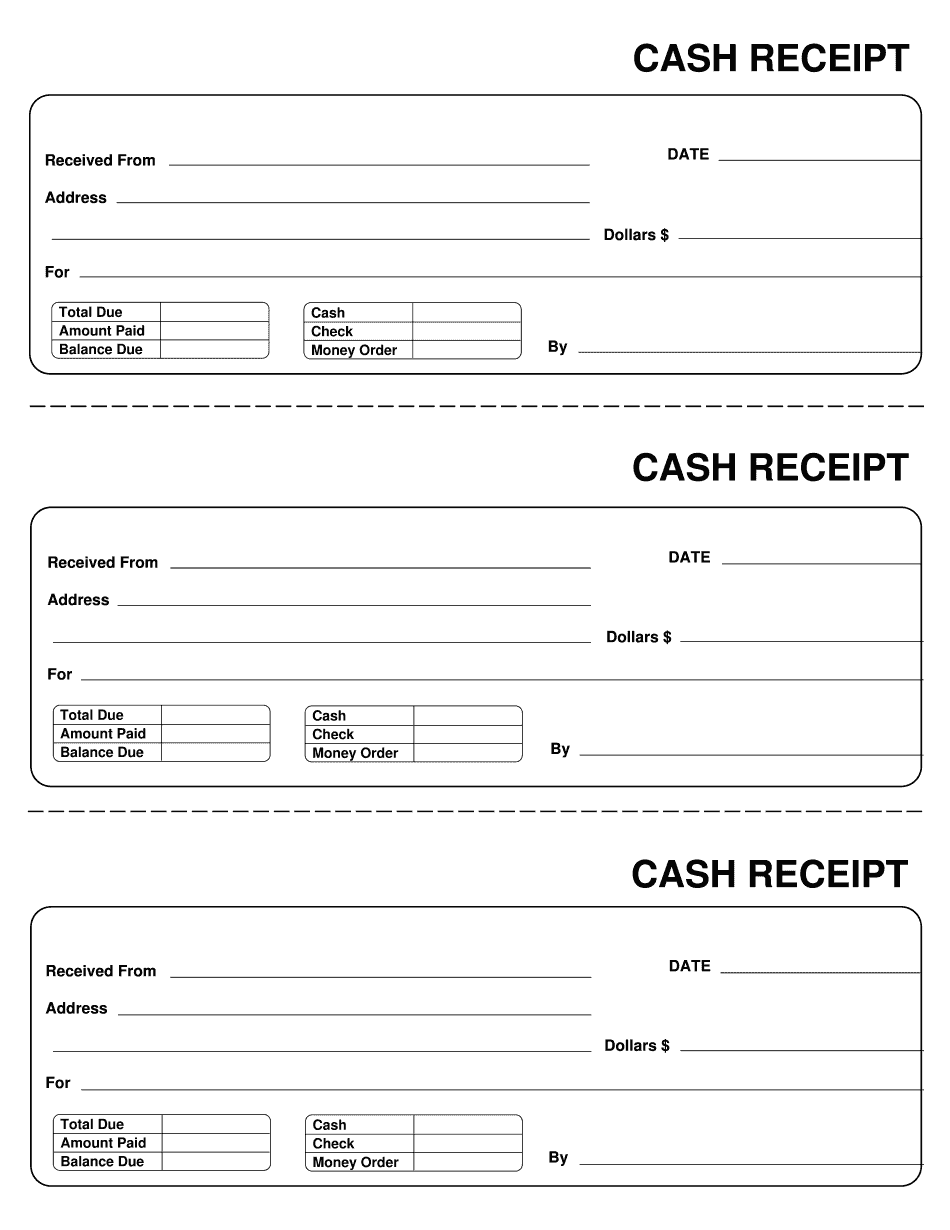 Cash Receipt Template Pdf Form To Download And Fill Out Receipt Template Free Receipt Template Invoice Template