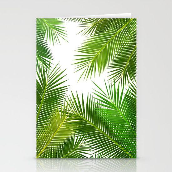 coconut leafs pattern stationery cards pointsalestore