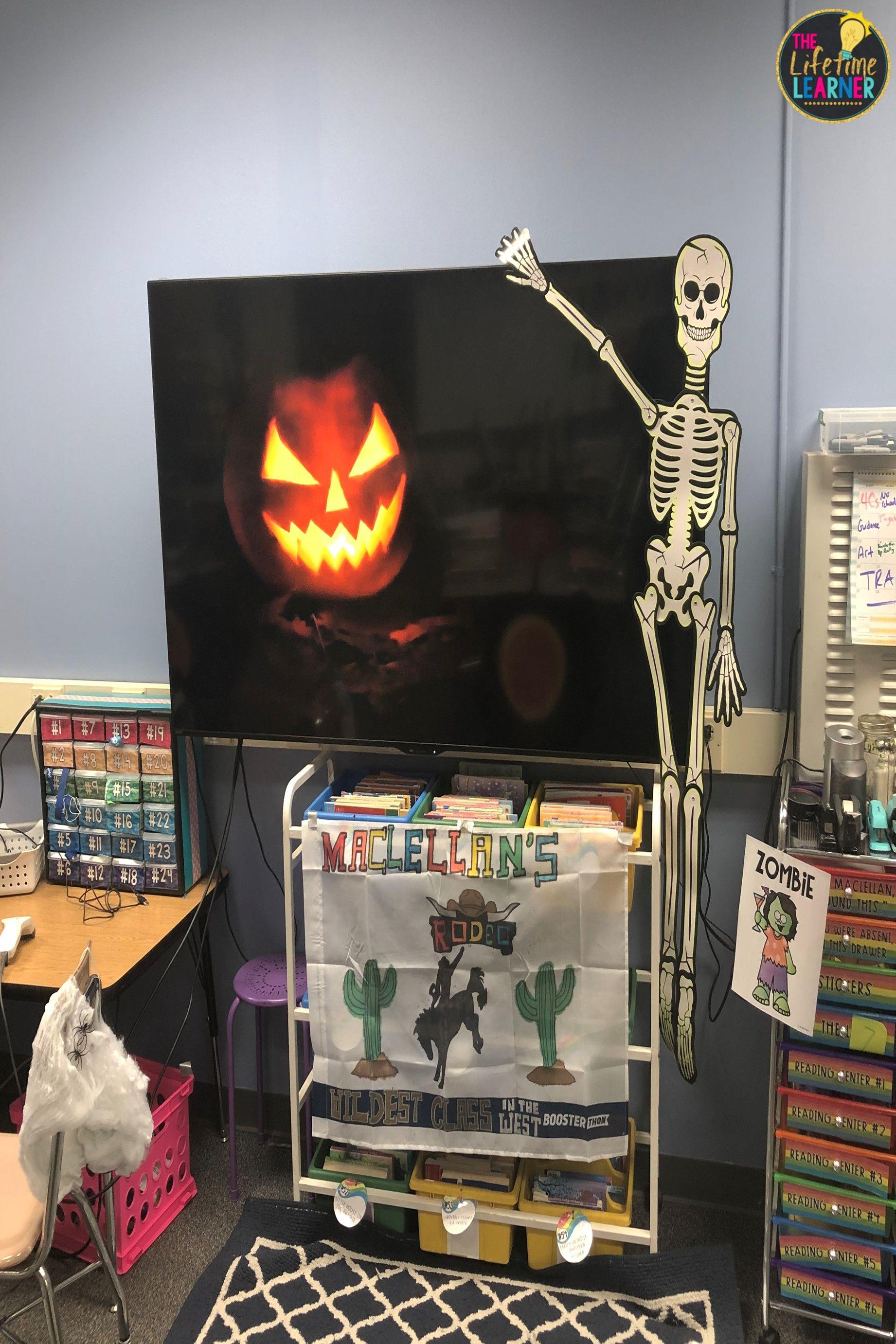 1st Grade Halloween Classroom Transformation