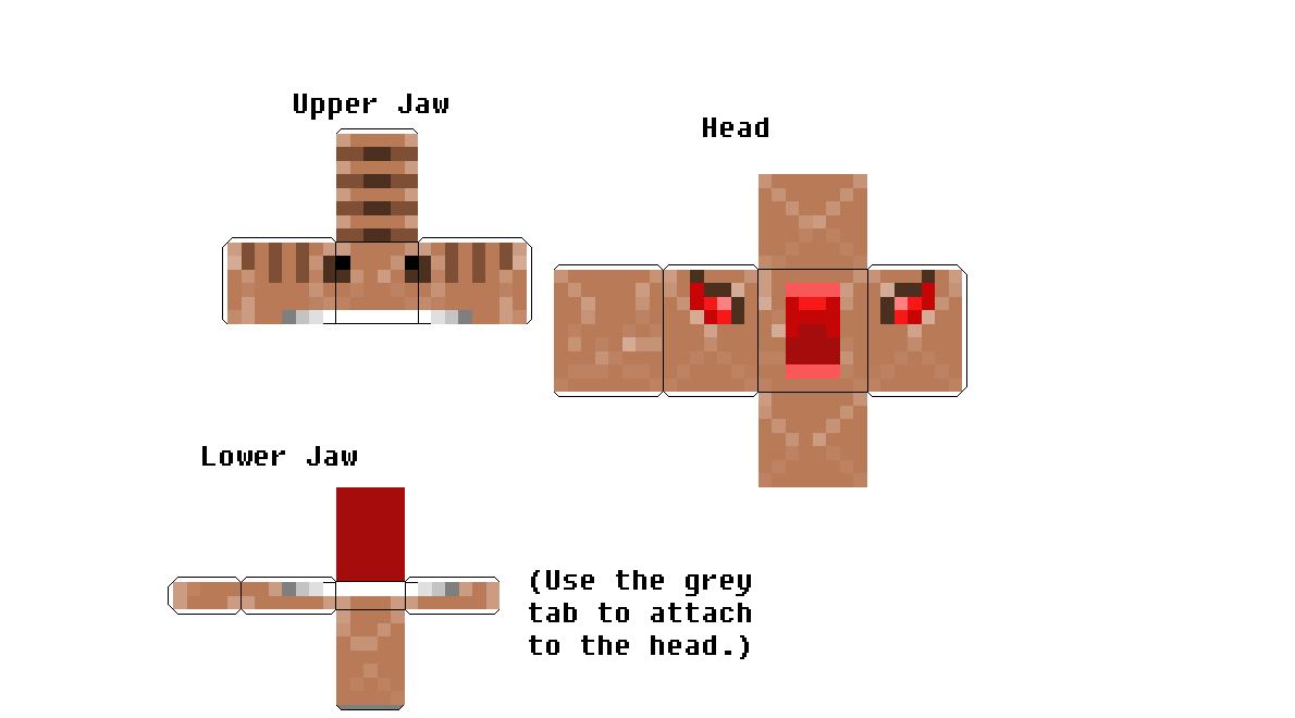 minecraft papercraft t-rex - Google Search