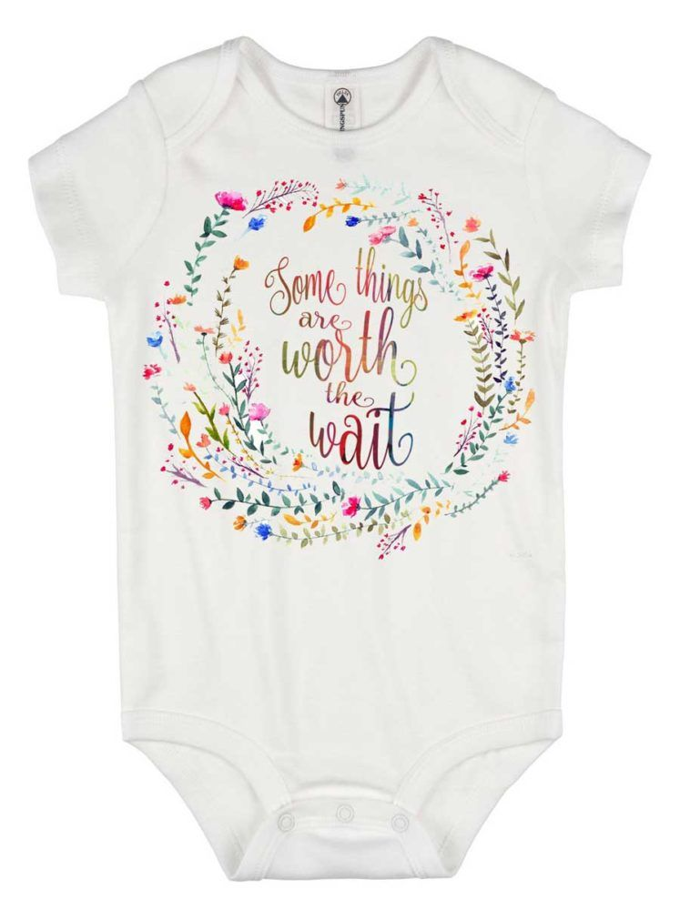 49a8e643b Rainbow Baby Romper, Some Things are Worth the Wait, Special Baby Gift,  Rainbow Shower Gift, Pregnancy After Loss, Rainbow Baby Gift,