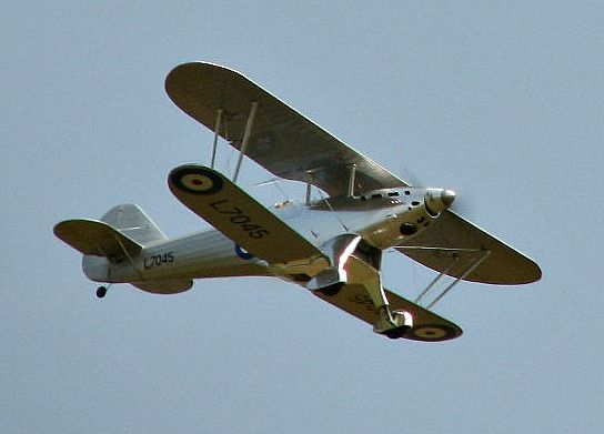 1/5 scale Fairey Fantome of my own design, flying by.