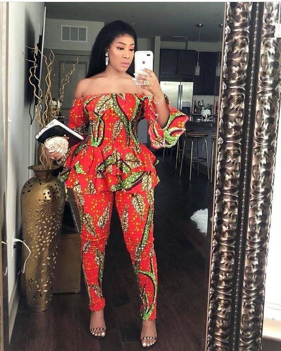 1000 Images About African Print 2 Piece Outfit On: Two Piece Ankara Smocked Pants And Top, Ankara Dress