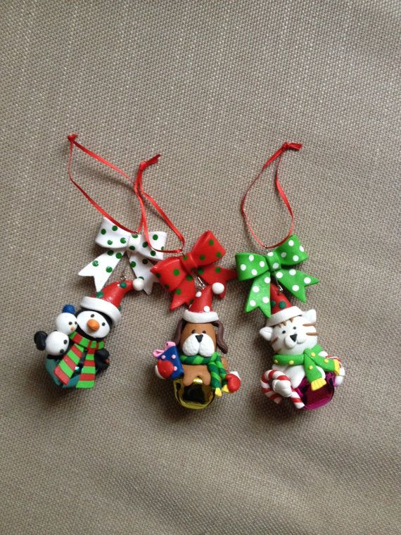 Polymer Clay Christmas Tree Decorations.Holiday Decoration Christmas Tree Decoration Christmas