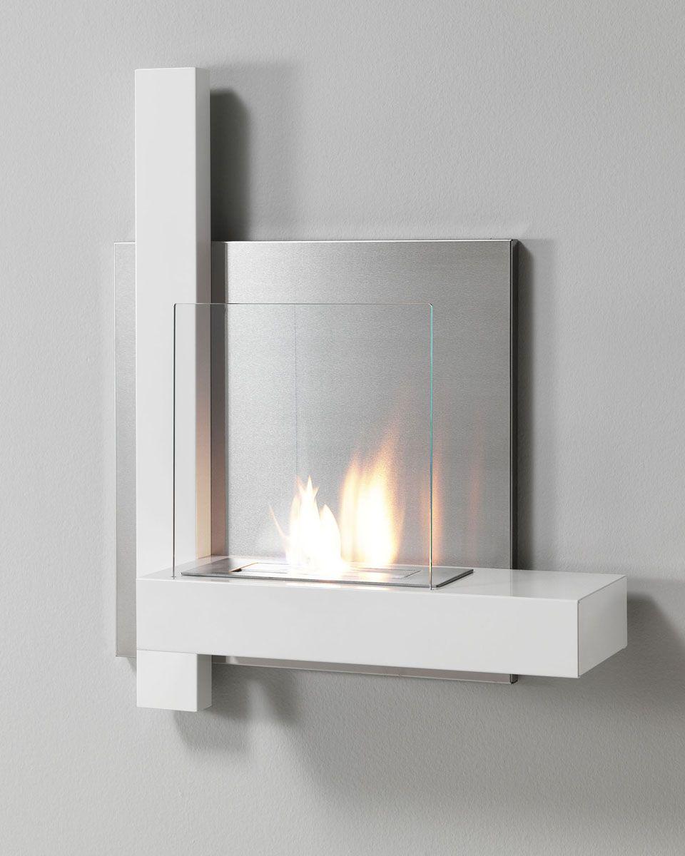 wall mount bioethanol fireplace white kokka bioethanol