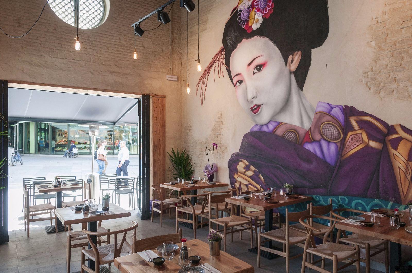 Restaurante Japones Takumi Sevilla Nhật Bản Thiết Kế Tượng