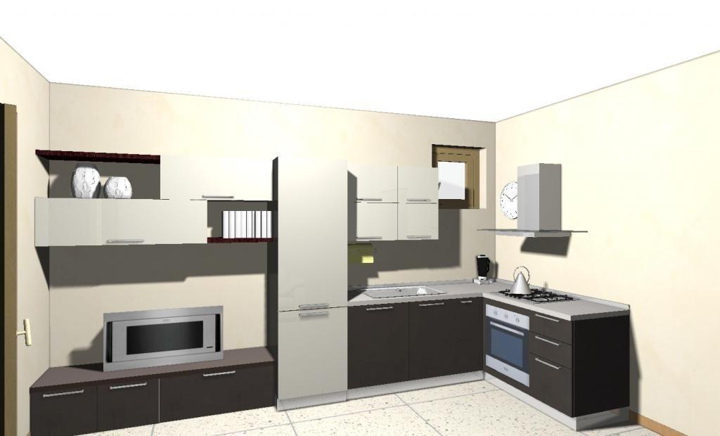 cucina con mobile tv - Cerca con Google | cucina con il mobile tv ...