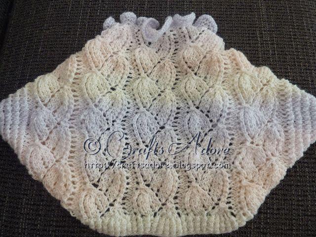 Knitted Girl Lacy Bellflowers Shrug Free Knitting Pattern ...