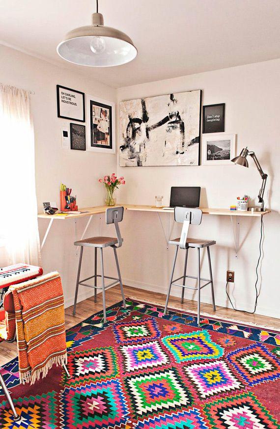 Escritório: vai Claudia, sentar no cantinho. - dcoracao.com - blog de decoração