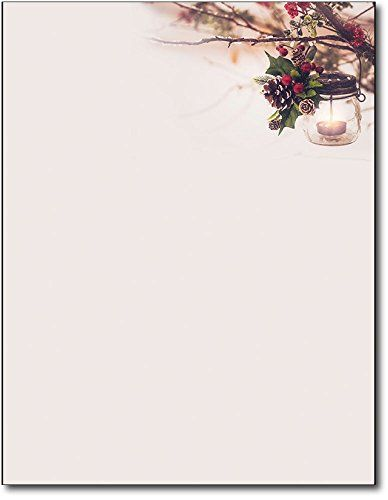 Glowing Lantern Christmas Holiday Letterhead Paper   S  Https