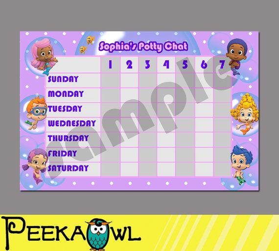 Printable Bubble Guppies Theme Personalise Potty by PeekaOwl - bubble chart