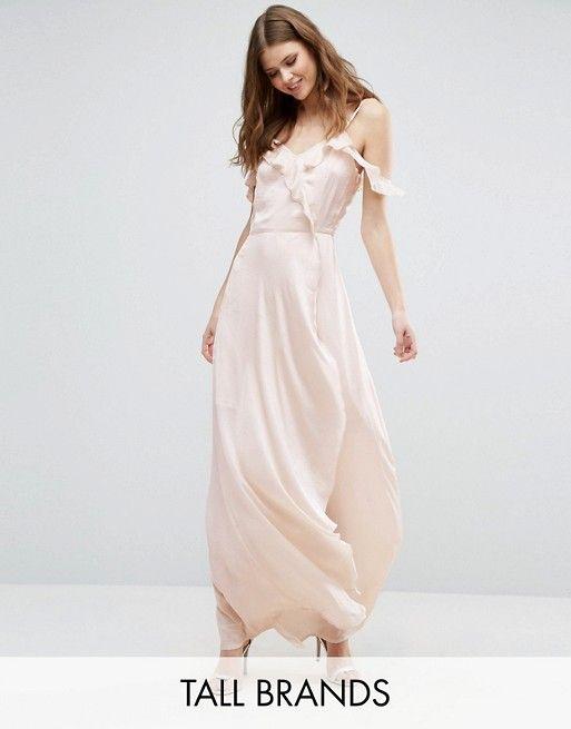 Vero Moda Tall – Maxikleid mit Rüschen | Kleidung
