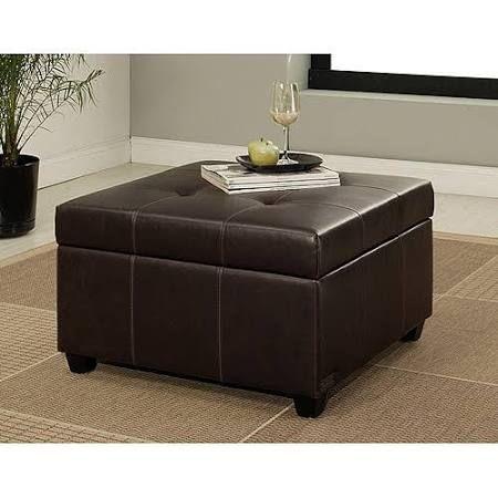 Sensational Abbyson Living Mason Faux Leather Storage Ottoman Dark Creativecarmelina Interior Chair Design Creativecarmelinacom