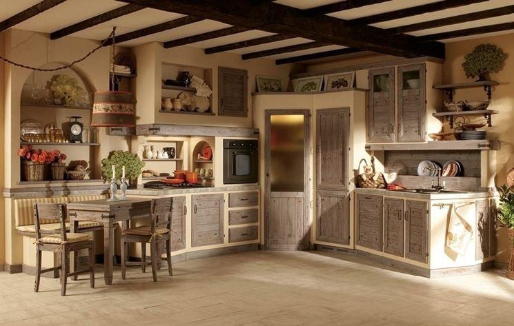 esempio di cucina in muratura | rustico | Pinterest | Cucina, Shabby ...