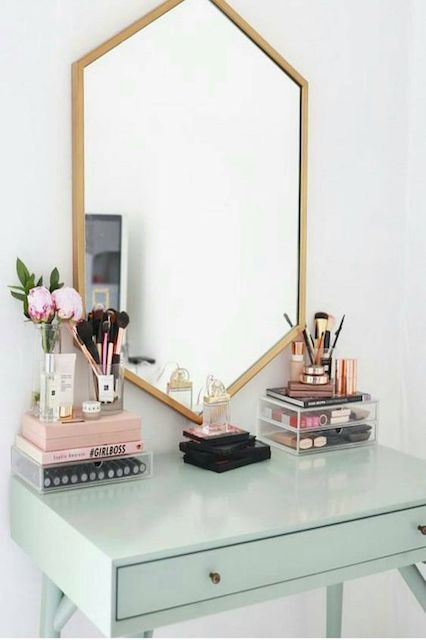 How To Decorate Like You\u0027ve Got Your Sh*t Together Tiny bathrooms - Bedroom Vanity Table