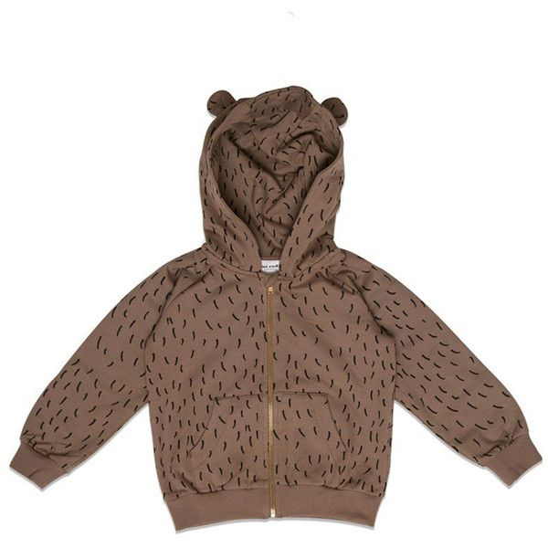 7df13e043 Mini Rodini Bear Zip Hoody ($110) ❤ liked on Polyvore featuring kids,  clothing kids and women