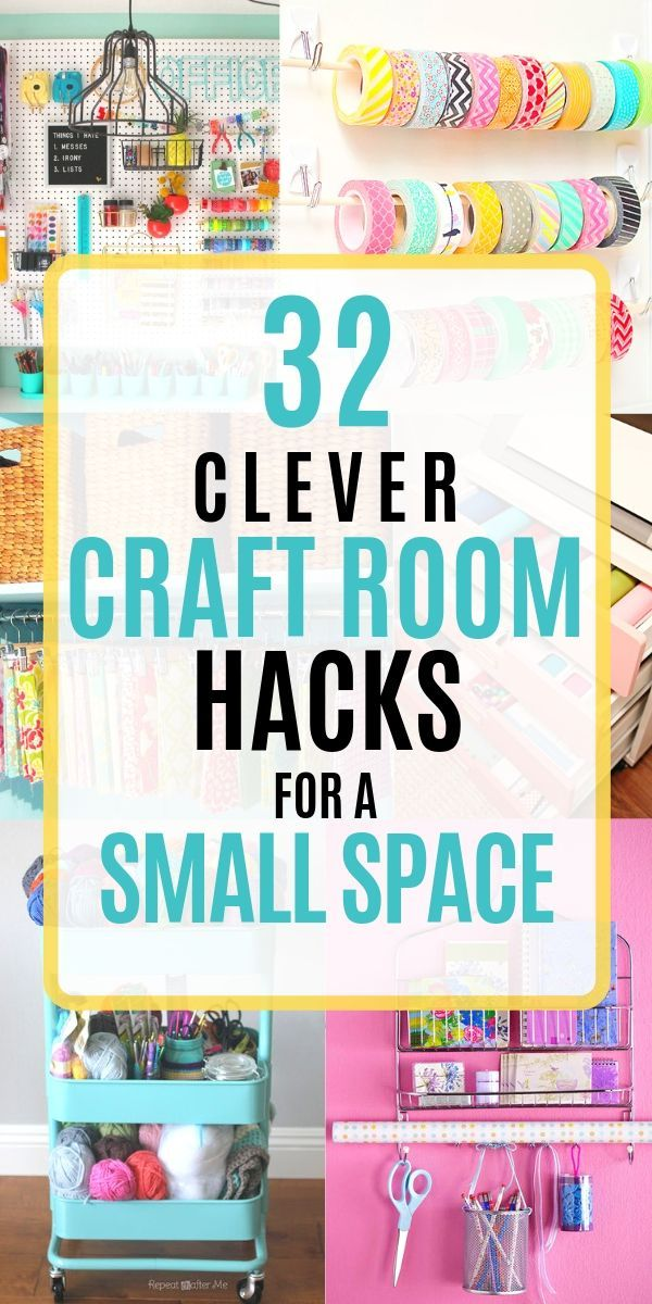 Over 30 EASY DIY ideas to get your craft room the most organized its ever been Organization ideas that include Ikea hacks home decor storage solutions ideas for a tiny or...