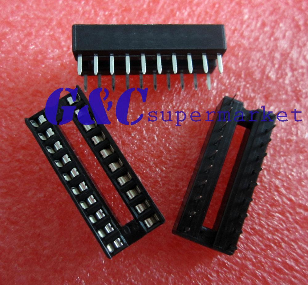 $3 83 - 50Pcs 20-Pin Dil Dip Ic Socket Pcb Mount Connector