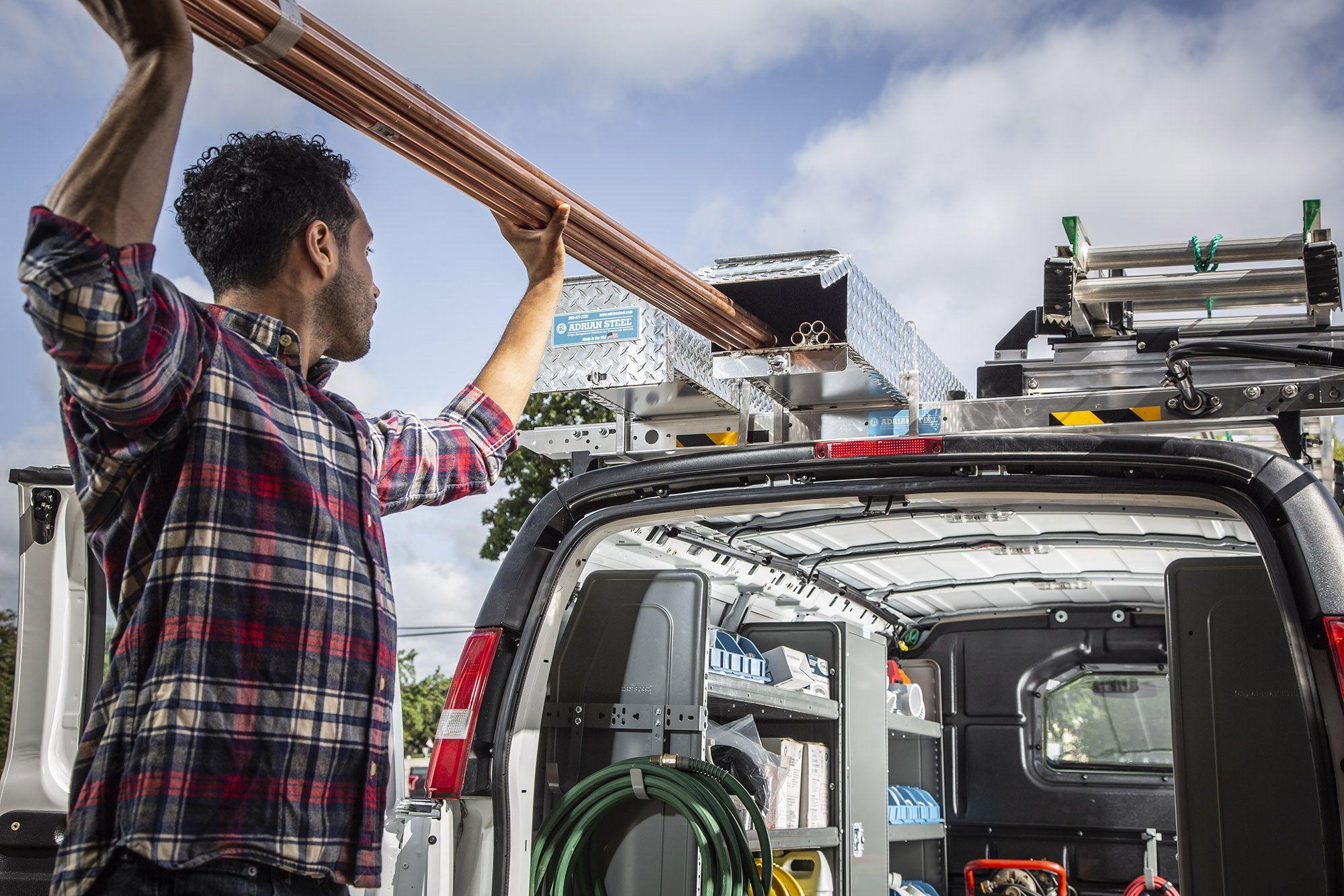 Secure Your Ladders Cargo Ladder Rack Ladder Racks For Vans Van Accessories