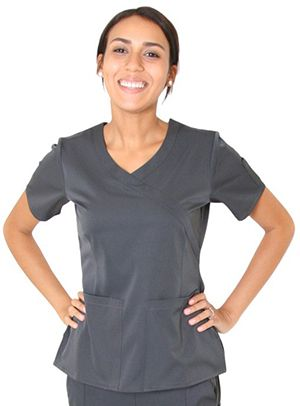 Spectrum Banded Crossover Scrub Top-Arizona Cap Company-(480) 661-0540 Custom Printed & Embroidered.Visit our site for colors available and the price