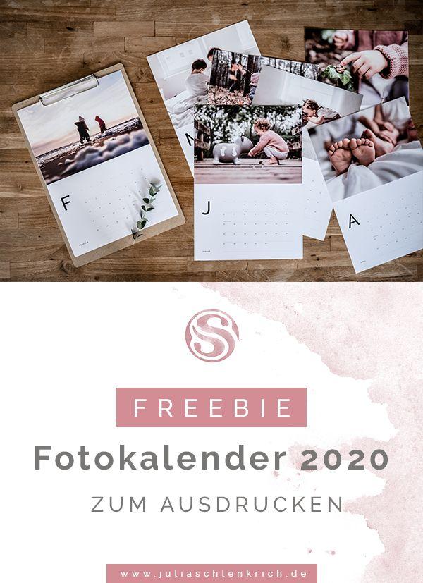 Freebie: Kostenloser Fotokalender 2020 zum Ausdrucken