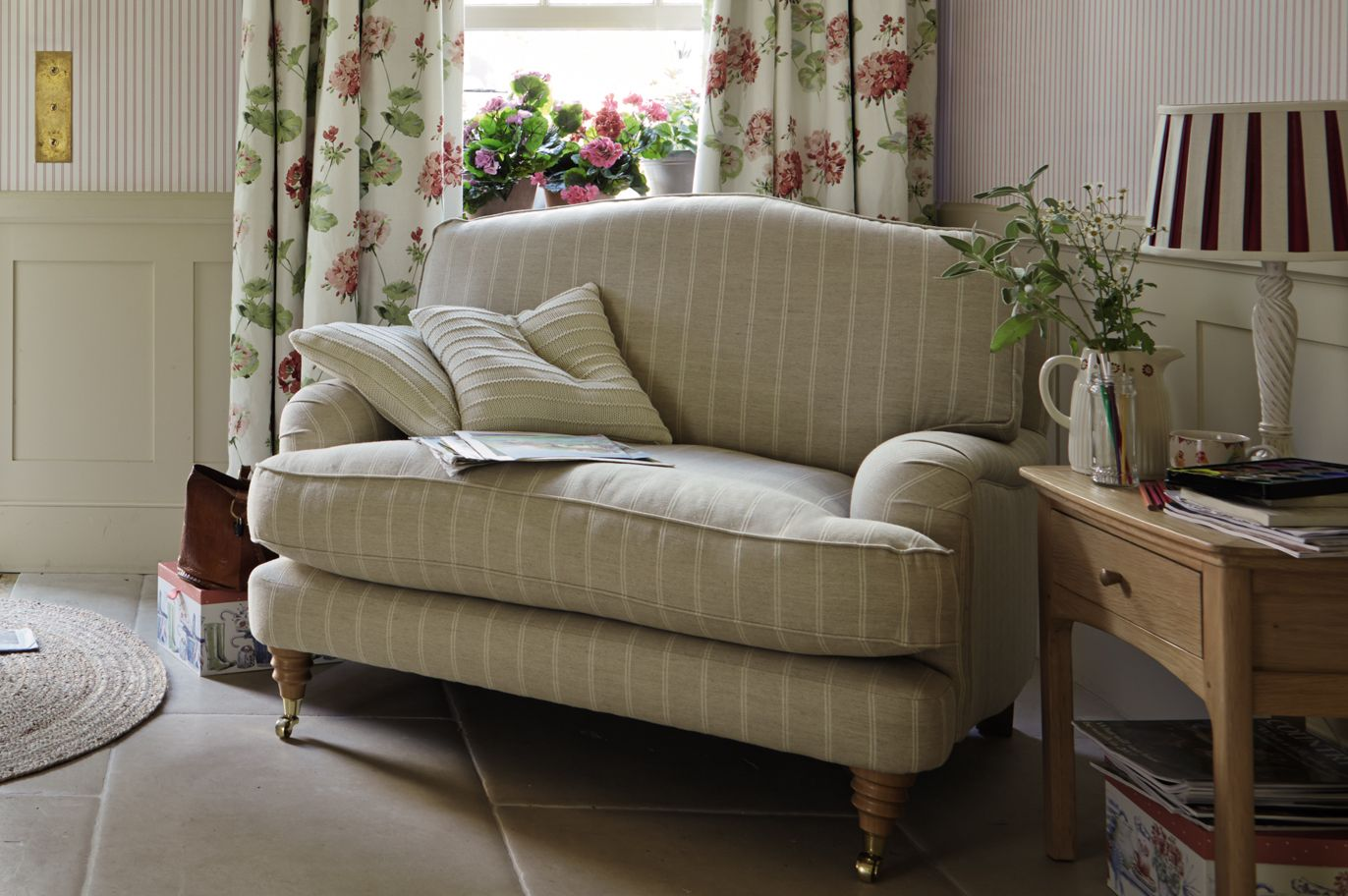 Sofas Laura Ashley Furniture Corner Sofa Small Living Room Lynden Upholstered Snuggler Made To Order