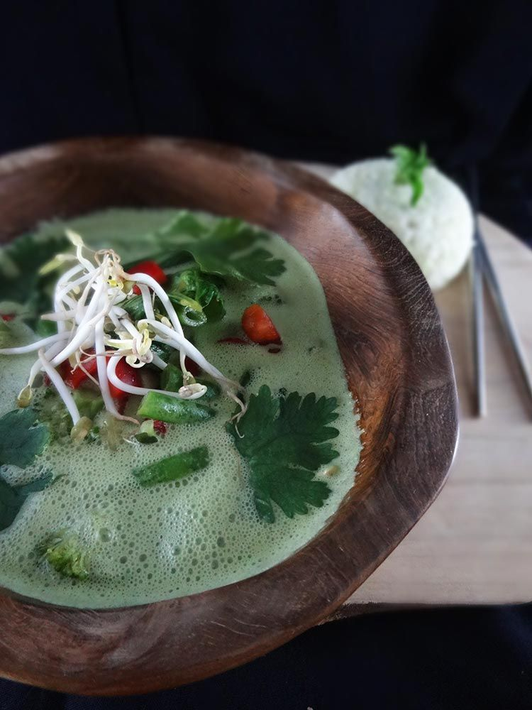 Raw Vegan Lemongrass Thai Green Curry From The Raw Food