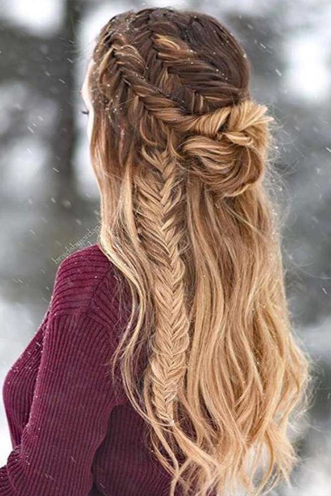 Long Hair Hairstyles Captivating 33 Cool Winter Hairstyles For The Holiday Season  Winter Hairstyles