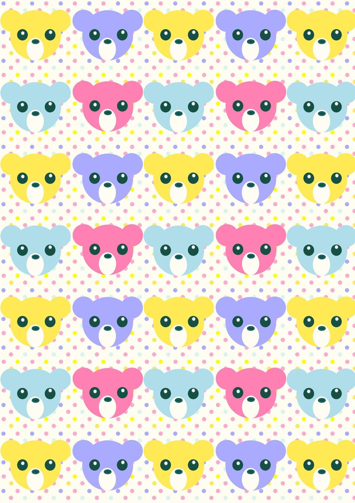Free Printable Nursery Pattern Paper Pastelcolored Babycolors