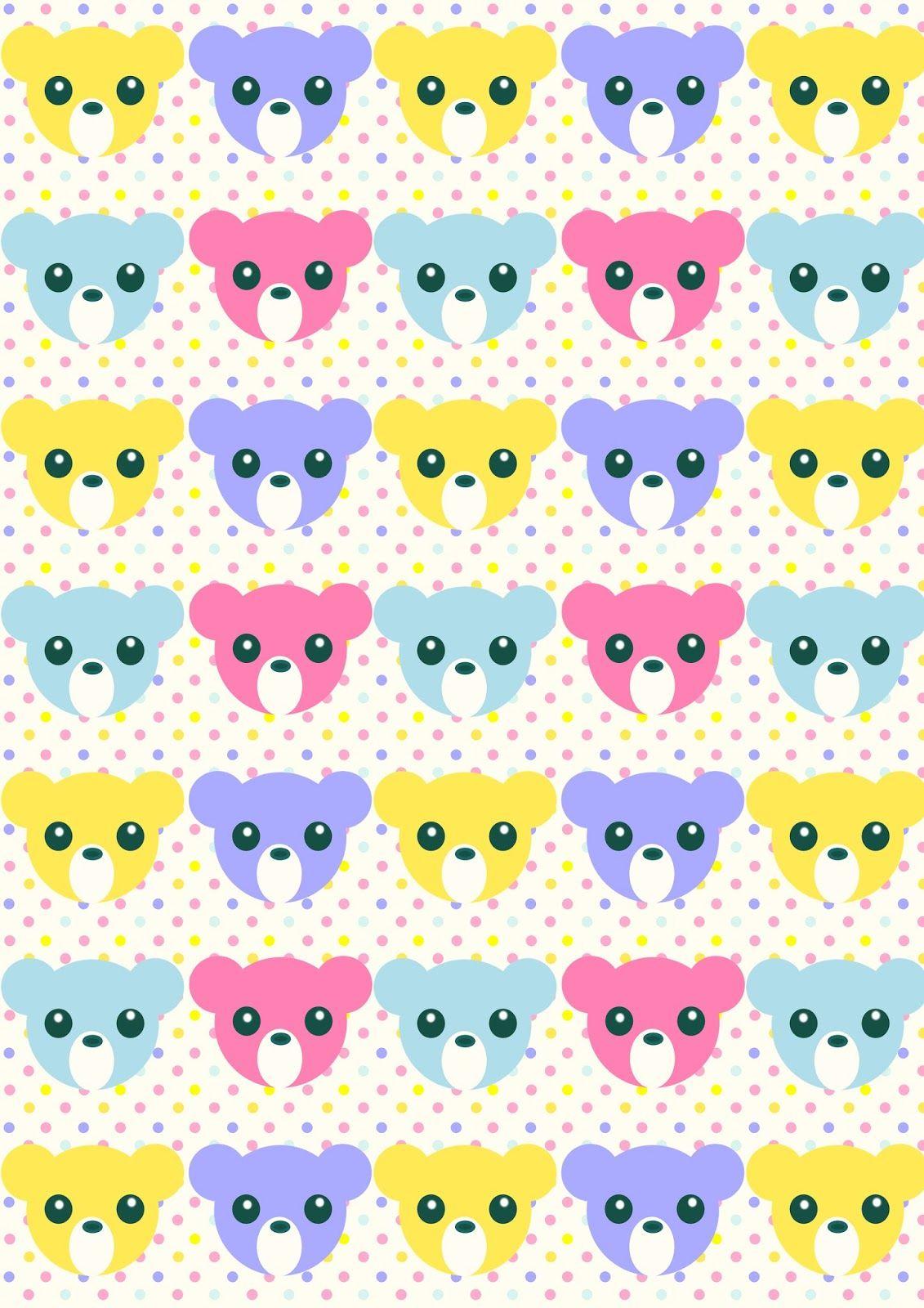 Scrapbook paper kawaii - Free Printable Nursery Pattern Paper Pastelcolored Babycolors