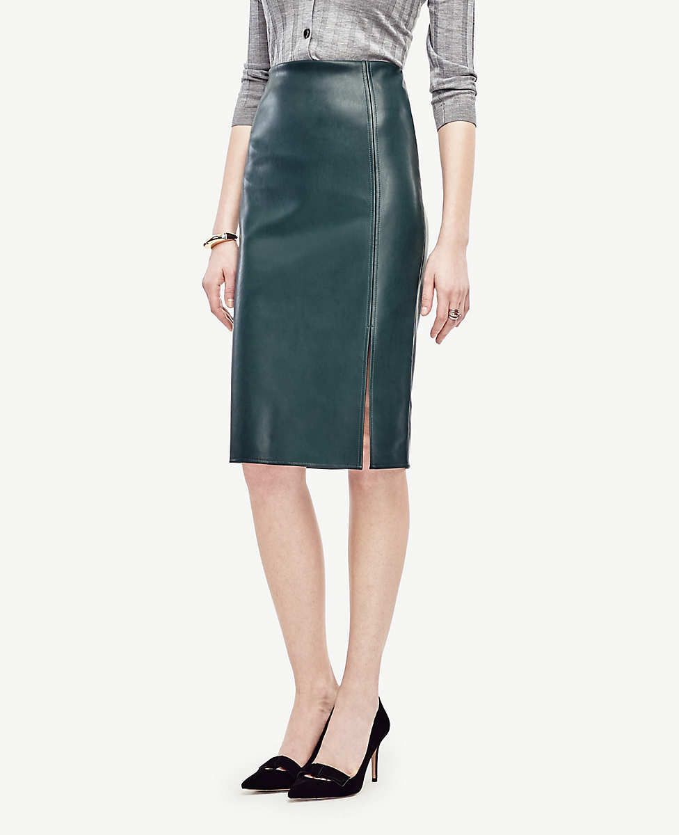 skilful manufacture distinctive design wholesale outlet Faux Leather Pencil Skirt | Ann Taylor | Fashion in 2019 ...